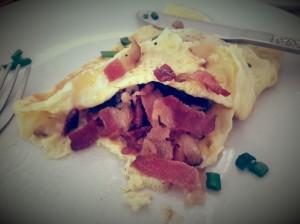 World's Best Bacon Omlette